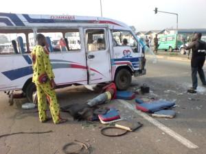 Un Accident grave sur l'autoroute d'Abobo à Adjamé