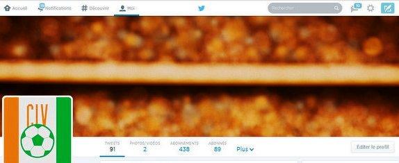 Nouveau profile twitter spécial mondial2014 d'un supporteur ivoirien