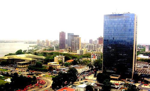 Abidjan plateau  l'immeuble CCIA le nouveau  siège de la BAD