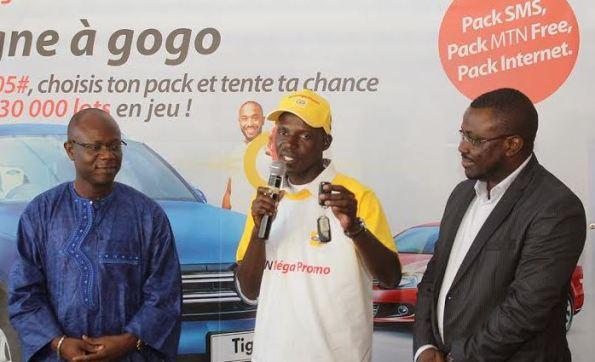 La 1ère voiture offerte au gagnant de la MégaPromo MTN Côte d'Ivoire