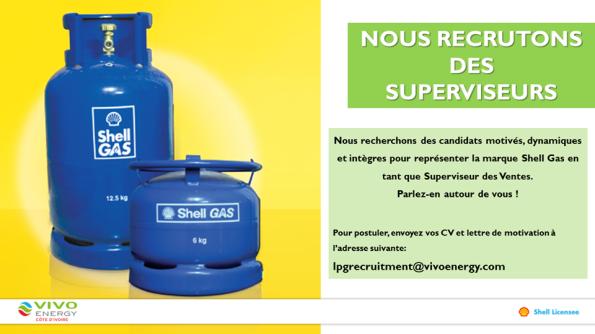 Emploi  Vivo Energy Côte d'Ivoire recrute des superviseurs des ventes Shell Gas